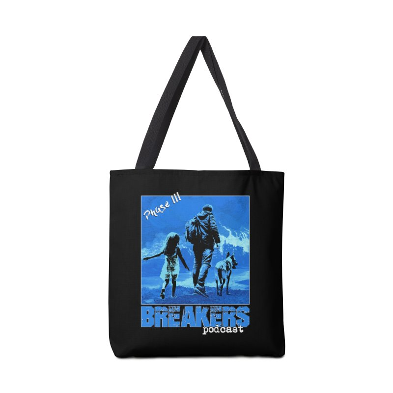 Phase III BLUE Tshirt Accessories Tote Bag Bag by breakerspodcast Shop