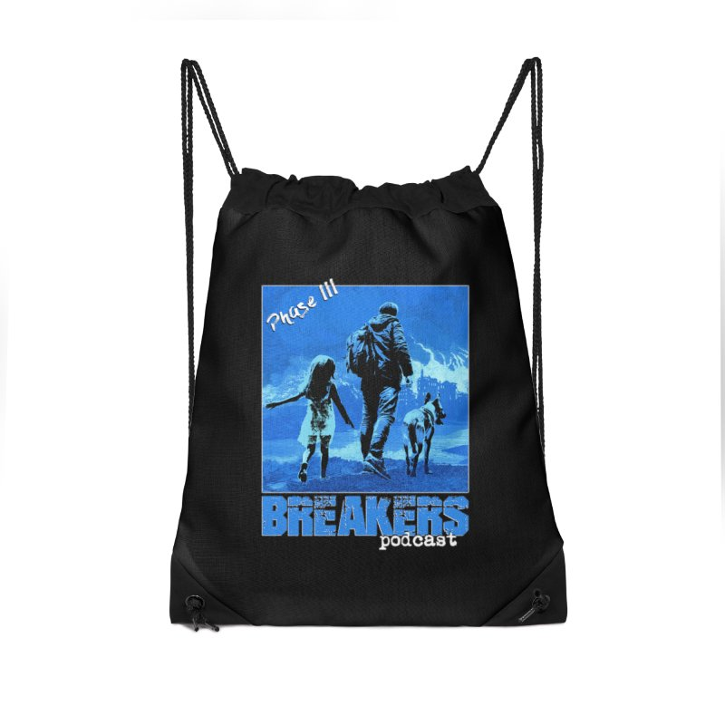 Phase III BLUE Tshirt Accessories Drawstring Bag Bag by breakerspodcast Shop