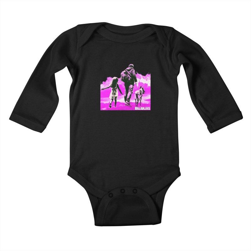Breakers Kids Pink Kids Baby Longsleeve Bodysuit by breakerspodcast Shop