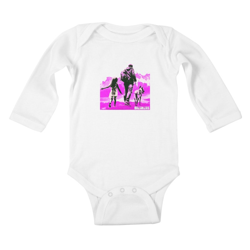 Breakers Kids Pink Kids Baby Longsleeve Bodysuit by breakerspodcast Shop