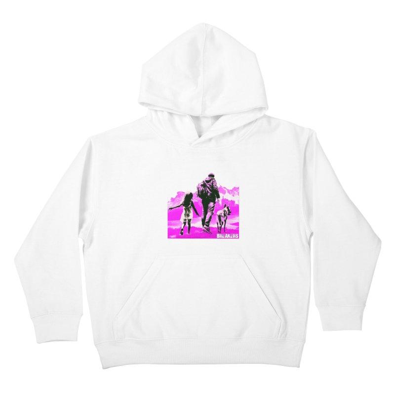 Breakers Kids Pink Kids Pullover Hoody by breakerspodcast Shop
