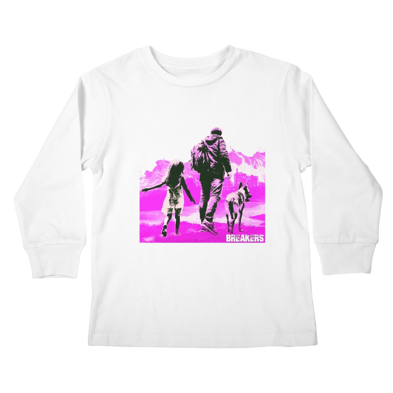 Breakers Kids Pink Kids Longsleeve T-Shirt by breakerspodcast Shop