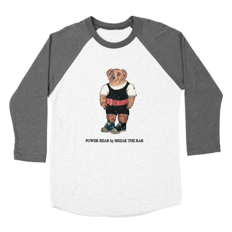 Power Bear Women's Baseball Triblend Longsleeve T-Shirt by Break The Bar