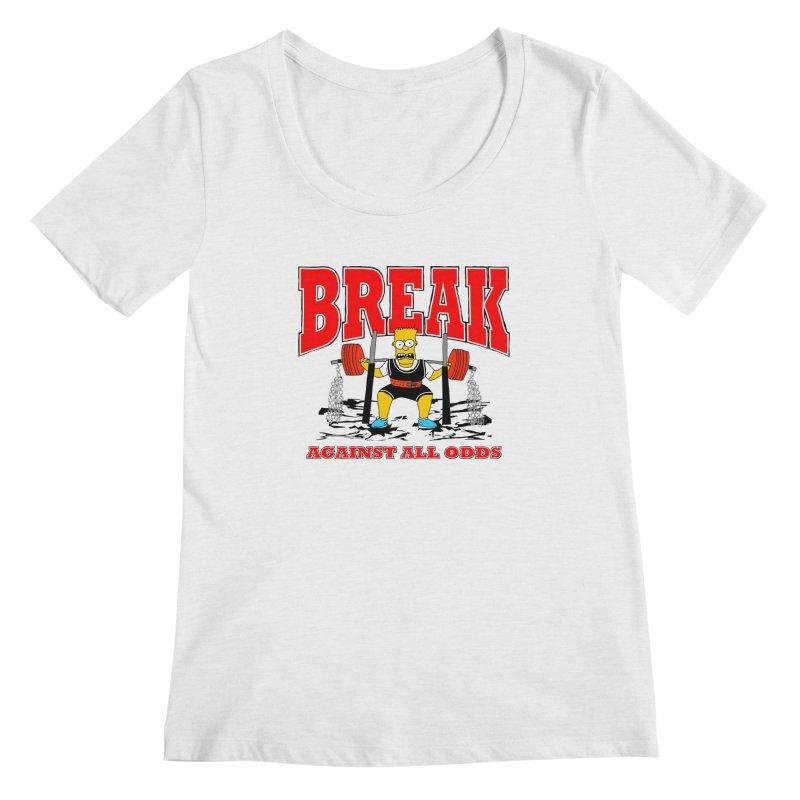 Against All Odds Women's Regular Scoop Neck by Break The Bar