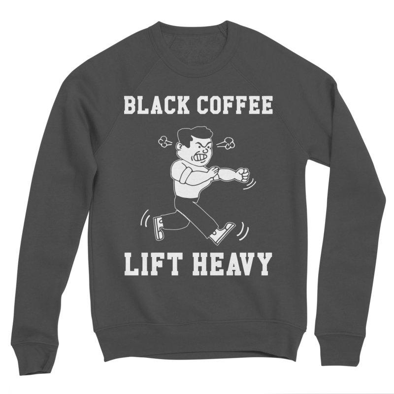 Black Coffee Lift Heavy Men's Sponge Fleece Sweatshirt by Break The Bar