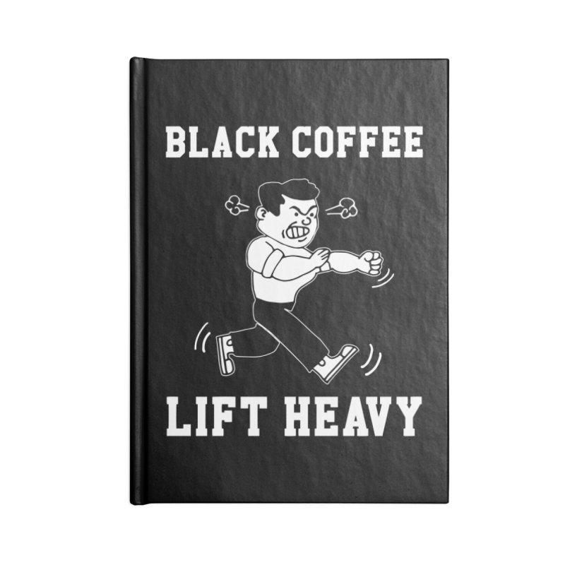 Black Coffee Lift Heavy Accessories Lined Journal Notebook by Break The Bar