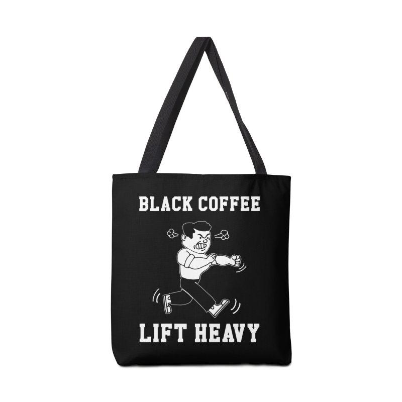 Black Coffee Lift Heavy Accessories Tote Bag Bag by Break The Bar