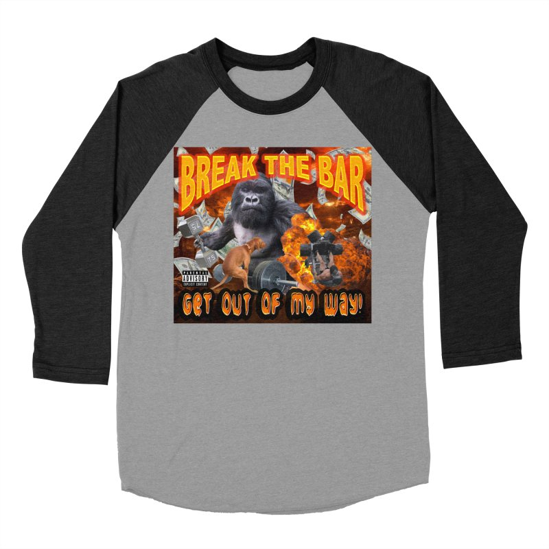 Gorilla Warfare Men's Baseball Triblend Longsleeve T-Shirt by Break The Bar