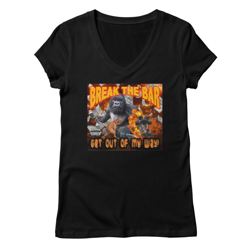 Gorilla Warfare Women's Regular V-Neck by Break The Bar