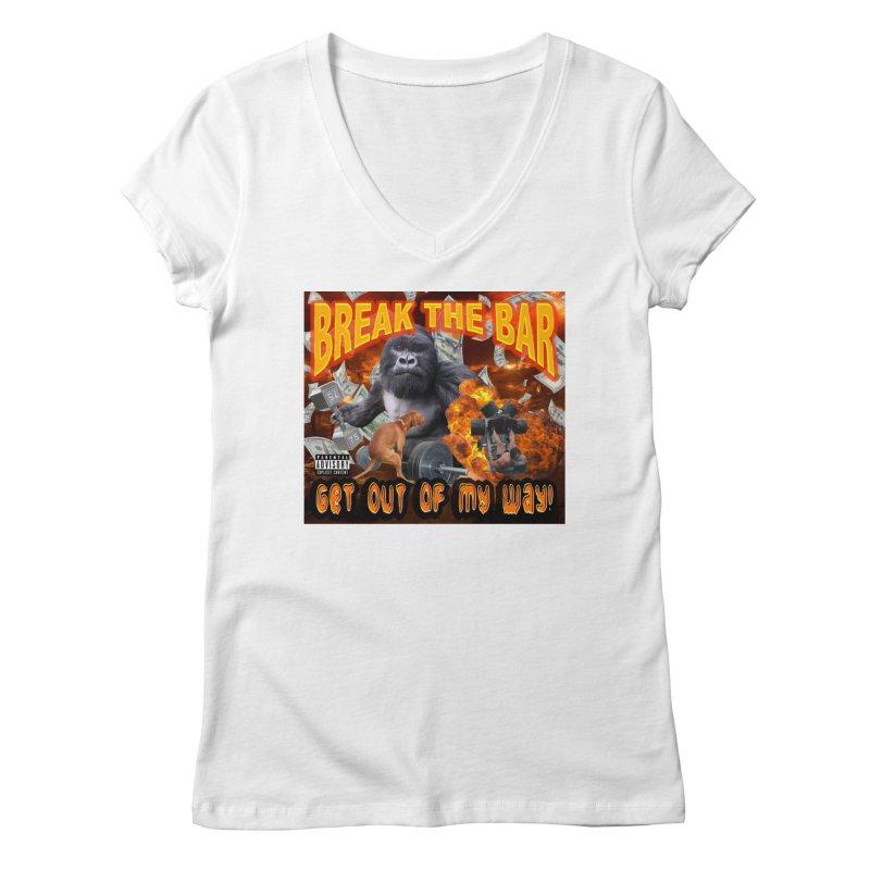 Gorilla Warfare Women's Regular V-Neck by Break The Bar