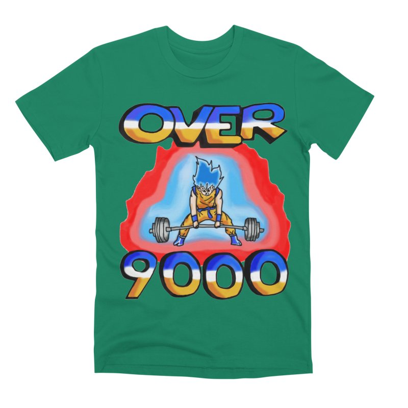 Over 9000 Men's Premium T-Shirt by Break The Bar
