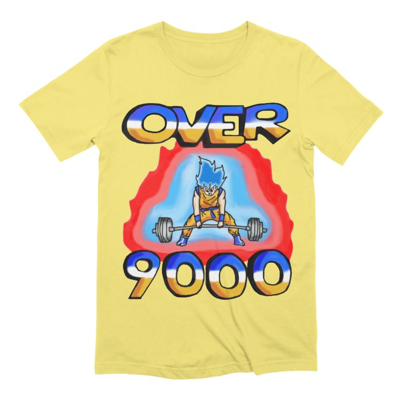 Over 9000 Men's Extra Soft T-Shirt by Break The Bar