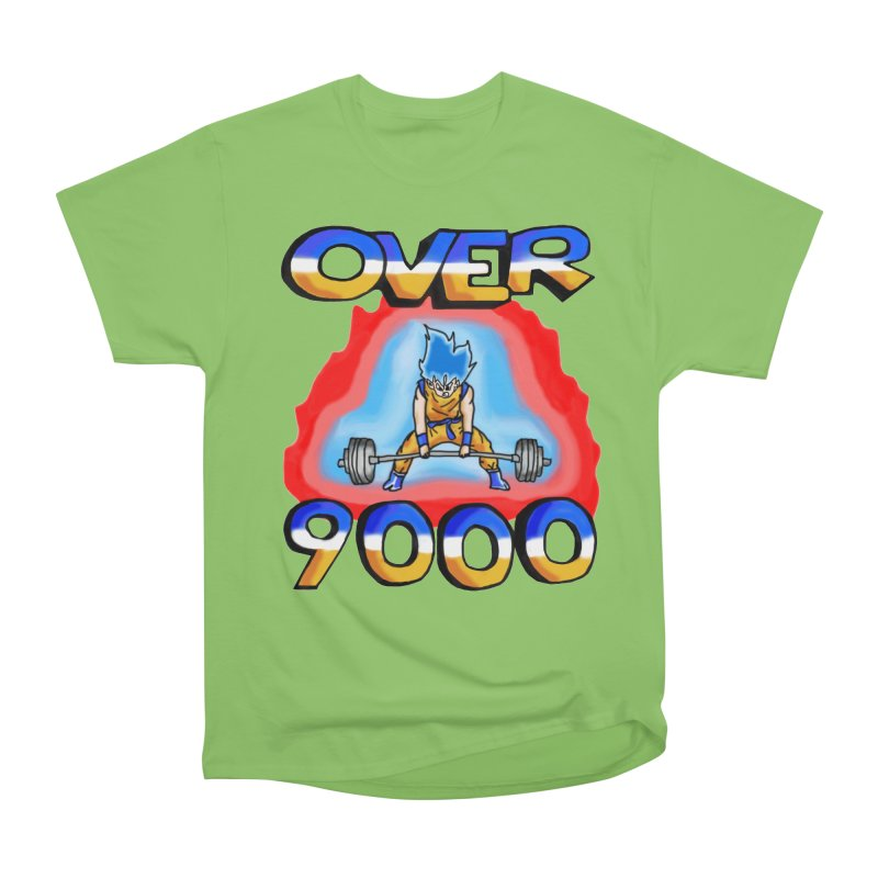 Over 9000 Men's Heavyweight T-Shirt by Break The Bar