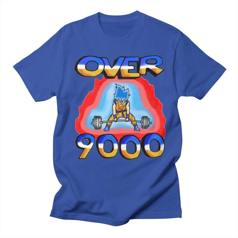 Over 9000 Men's Regular T-Shirt by Break The Bar