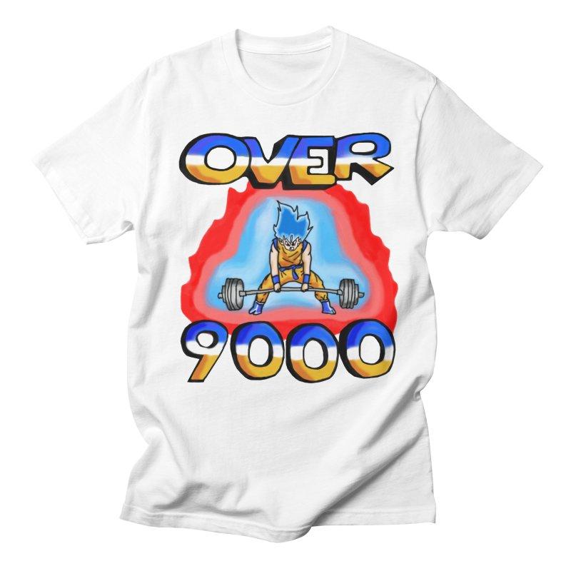 Over 9000 Women's Regular Unisex T-Shirt by Break The Bar