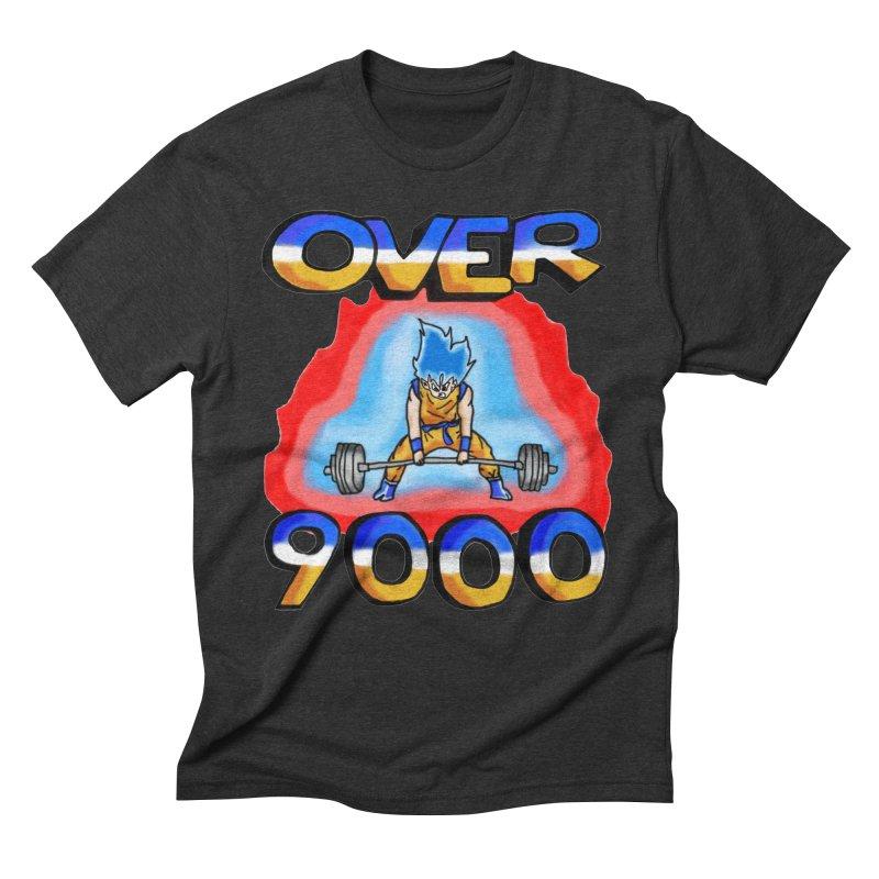 Over 9000 Men's Triblend T-Shirt by Break The Bar