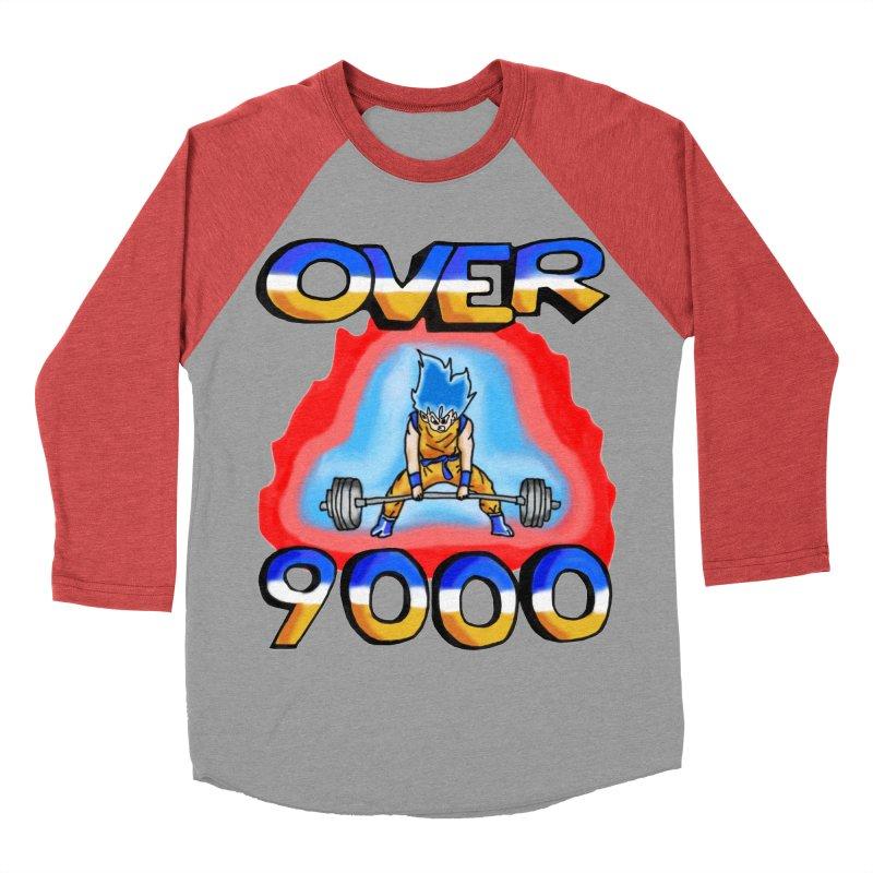 Over 9000 Men's Baseball Triblend Longsleeve T-Shirt by Break The Bar