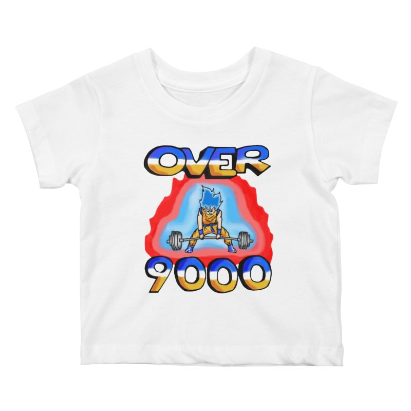 Over 9000 Kids Baby T-Shirt by Break The Bar