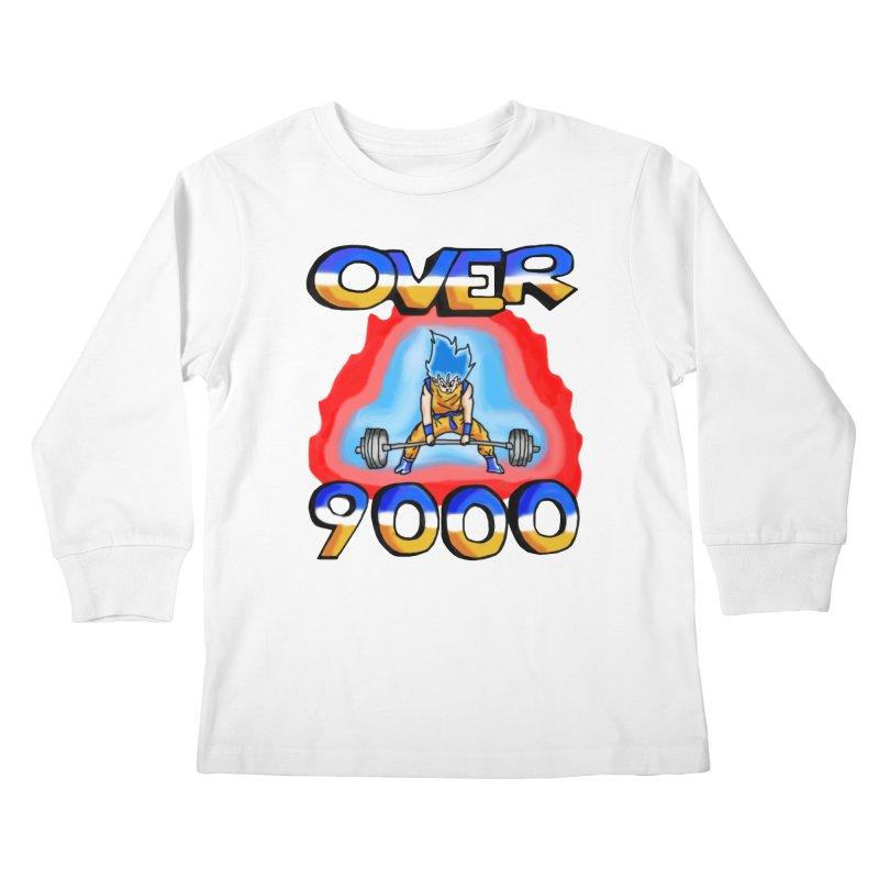 Over 9000 Kids Longsleeve T-Shirt by Break The Bar