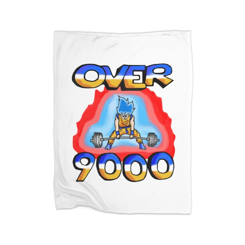 Over 9000 Home Fleece Blanket Blanket by Break The Bar