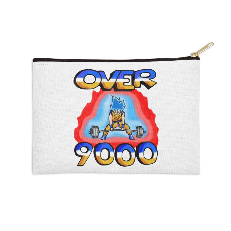 Over 9000 Accessories Zip Pouch by Break The Bar
