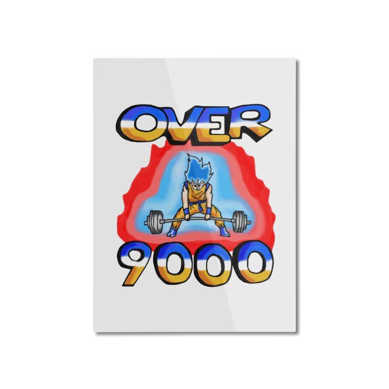 Over 9000 Home Mounted Aluminum Print by Break The Bar