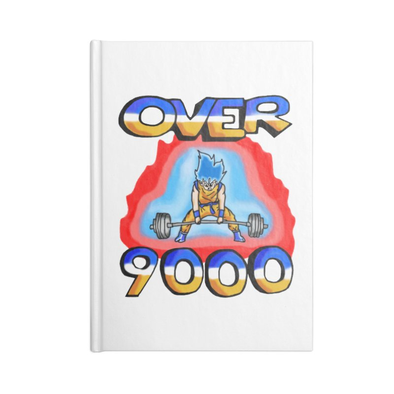 Over 9000 Accessories Lined Journal Notebook by Break The Bar