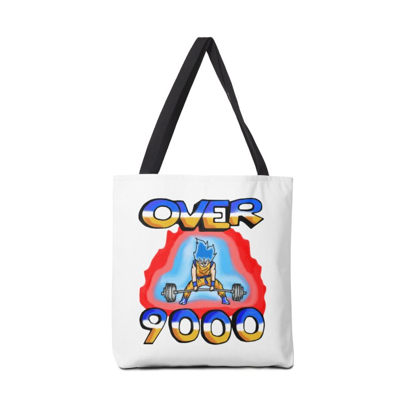 Over 9000 Accessories Tote Bag Bag by Break The Bar