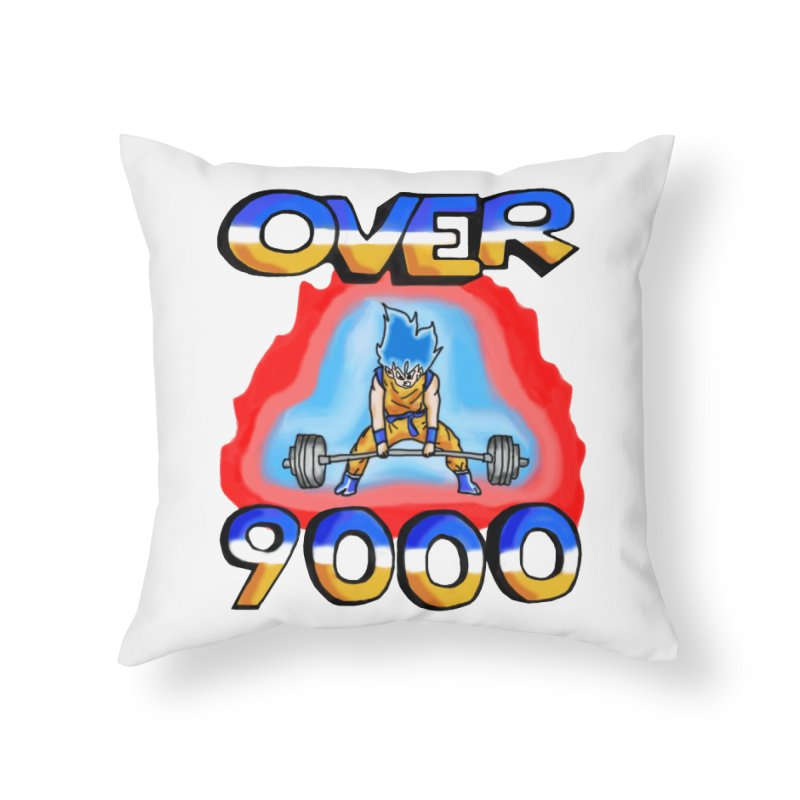 Over 9000 Home Throw Pillow by Break The Bar