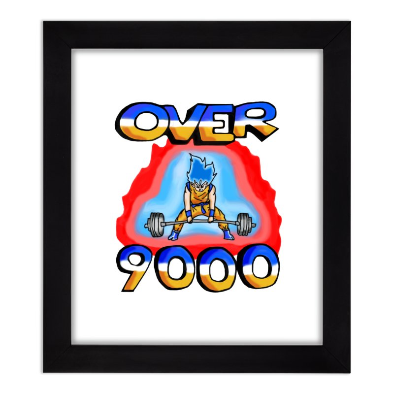 Over 9000 Home Framed Fine Art Print by Break The Bar