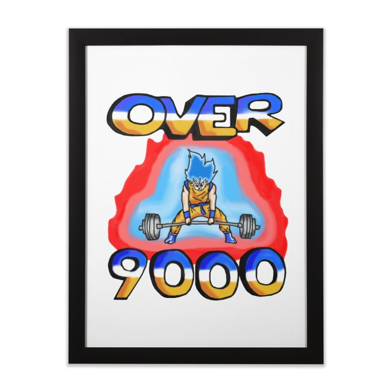 Over 9000 Home Framed Fine Art Print by Break The Bar