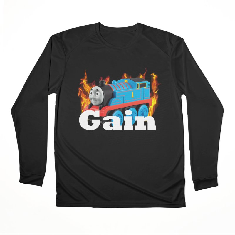 Gain Train Men's Performance Longsleeve T-Shirt by Break The Bar