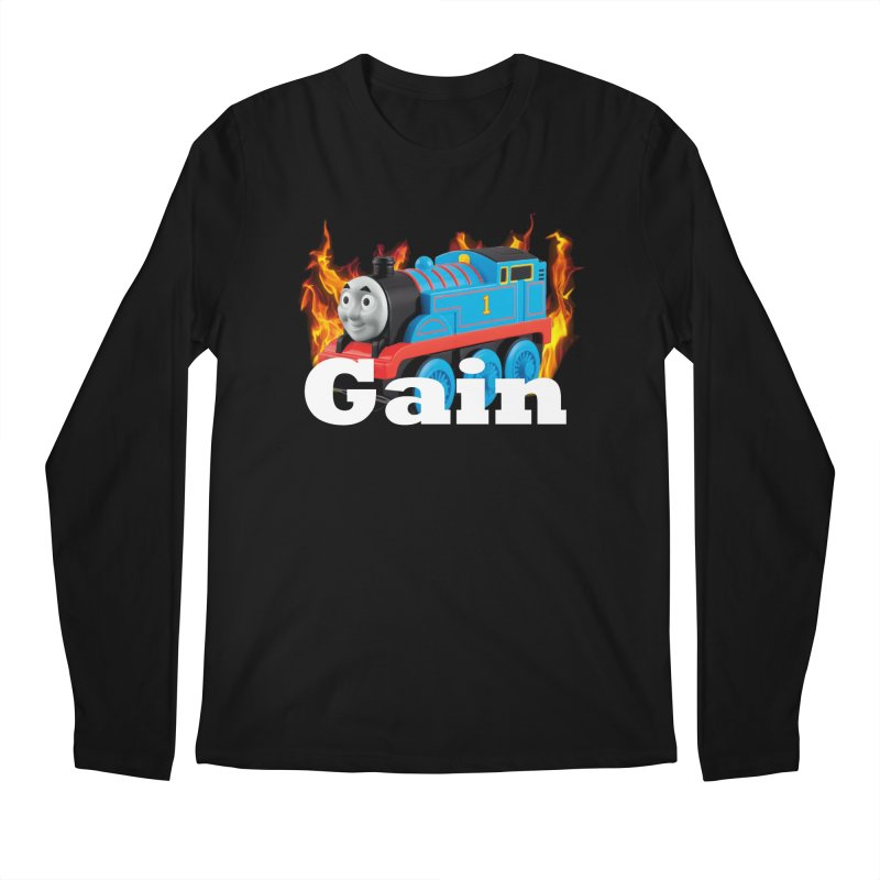 Gain Train Men's Regular Longsleeve T-Shirt by Break The Bar