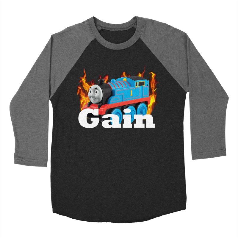 Gain Train Men's Baseball Triblend Longsleeve T-Shirt by Break The Bar
