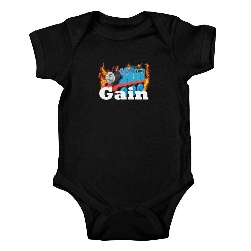 Gain Train Kids Baby Bodysuit by Break The Bar