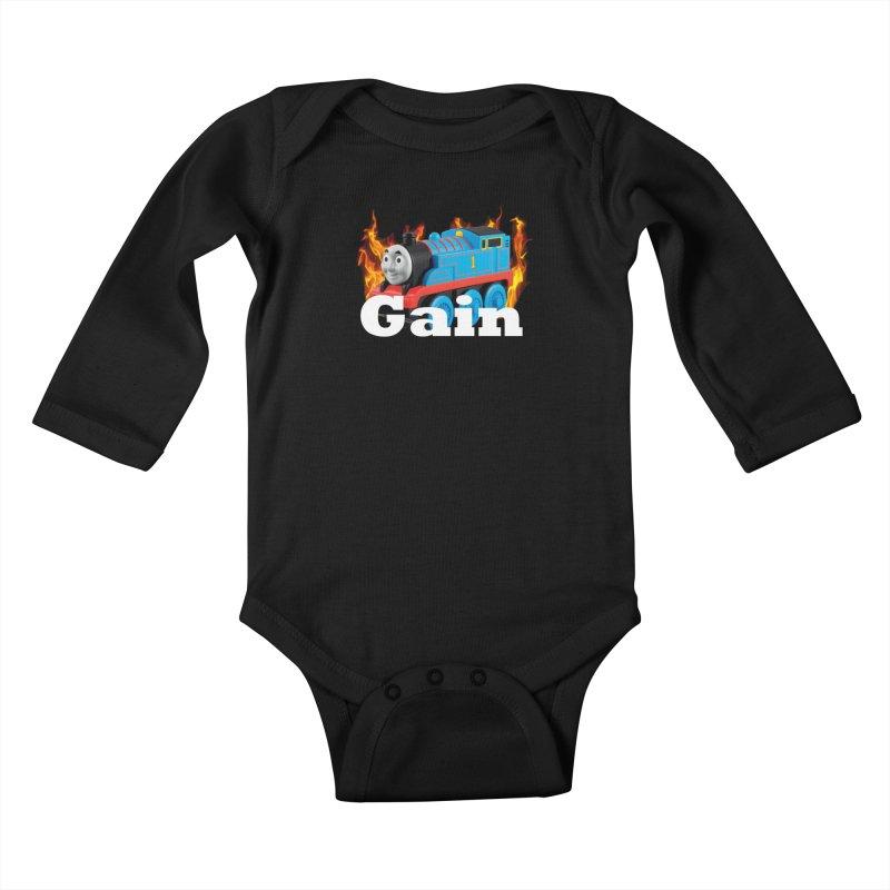 Gain Train Kids Baby Longsleeve Bodysuit by Break The Bar