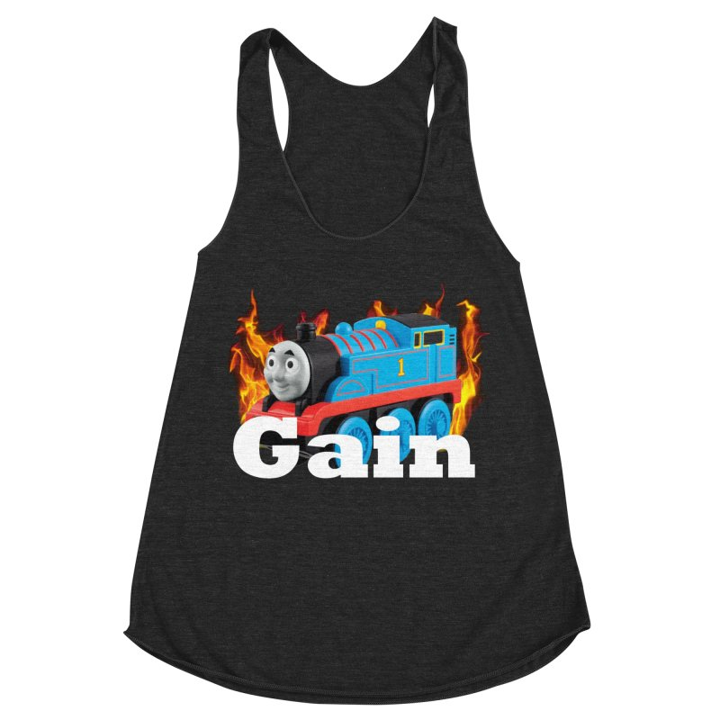 Gain Train Women's Racerback Triblend Tank by Break The Bar