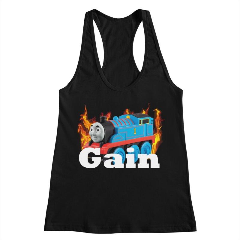 Gain Train Women's Racerback Tank by Break The Bar