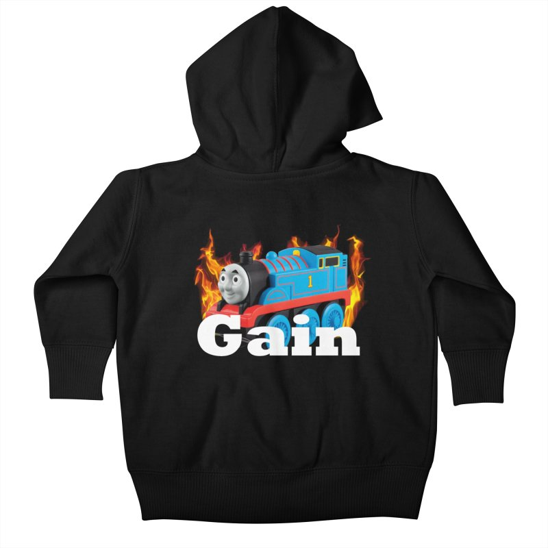 Gain Train Kids Baby Zip-Up Hoody by Break The Bar