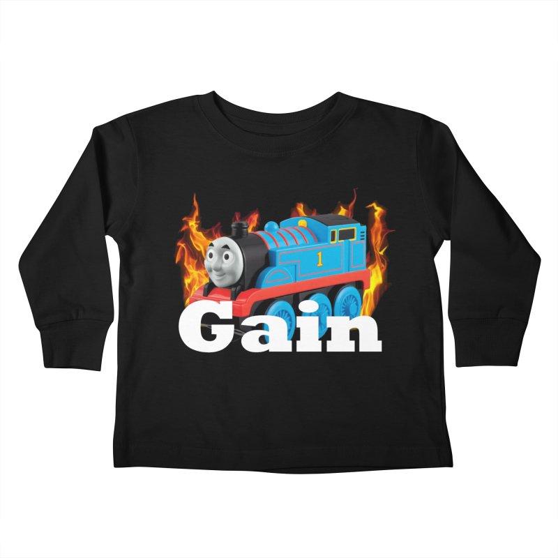 Gain Train Kids Toddler Longsleeve T-Shirt by Break The Bar