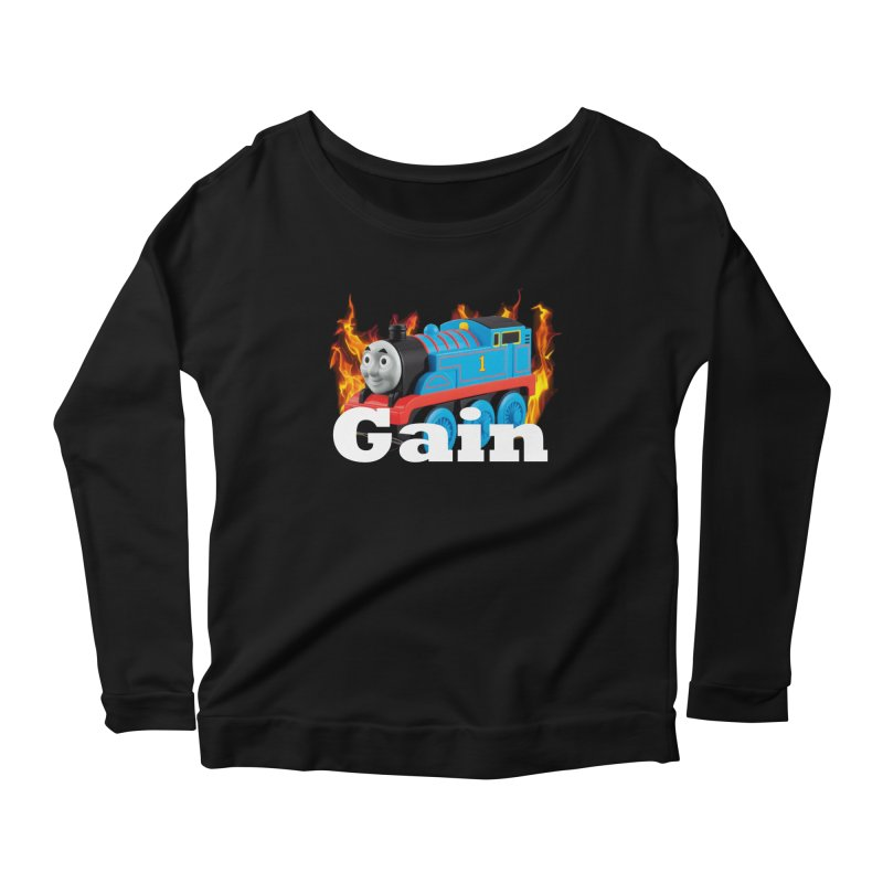 Gain Train Women's Scoop Neck Longsleeve T-Shirt by Break The Bar