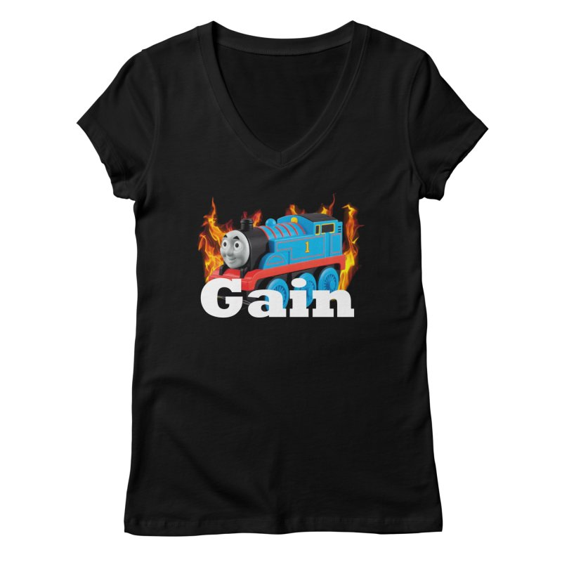 Gain Train Women's Regular V-Neck by Break The Bar