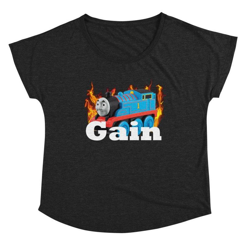 Gain Train Women's Scoop Neck by Break The Bar