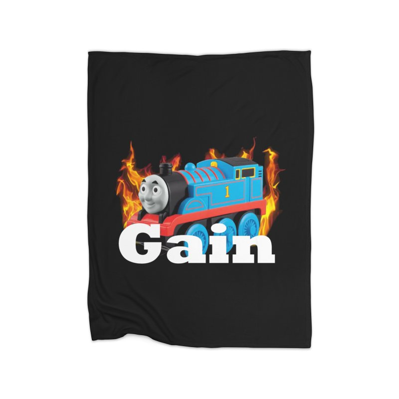 Gain Train Home Fleece Blanket Blanket by Break The Bar