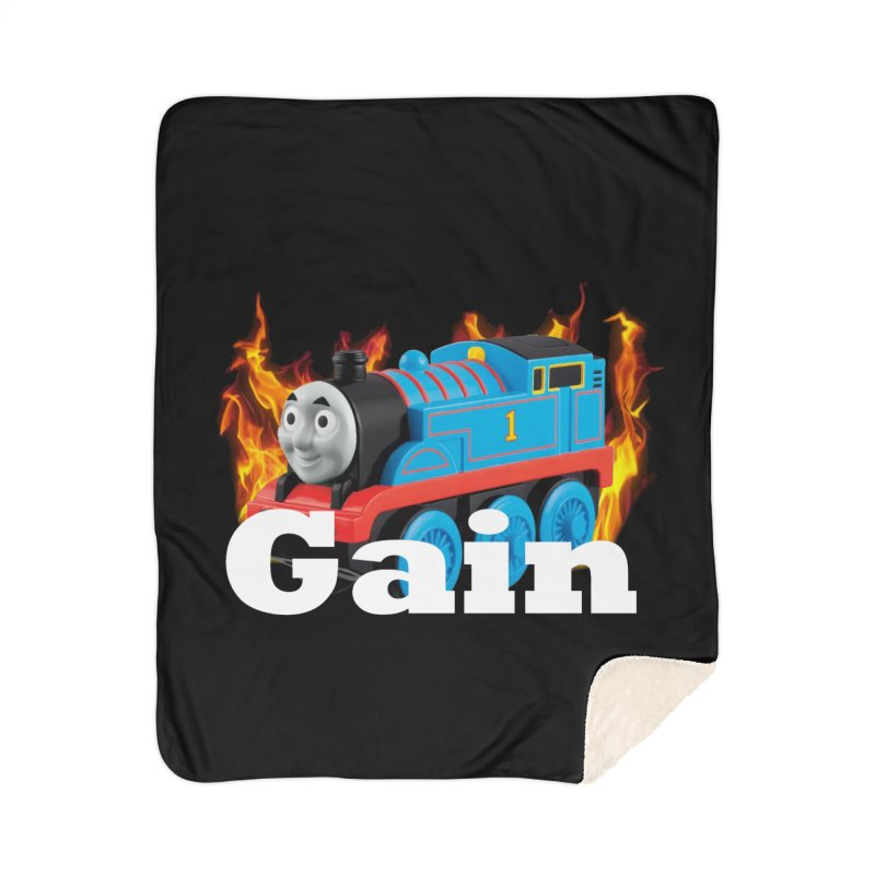 Gain Train Home Sherpa Blanket Blanket by Break The Bar