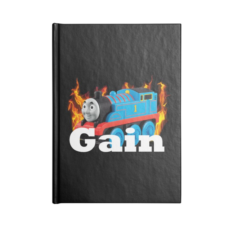 Gain Train Accessories Blank Journal Notebook by Break The Bar