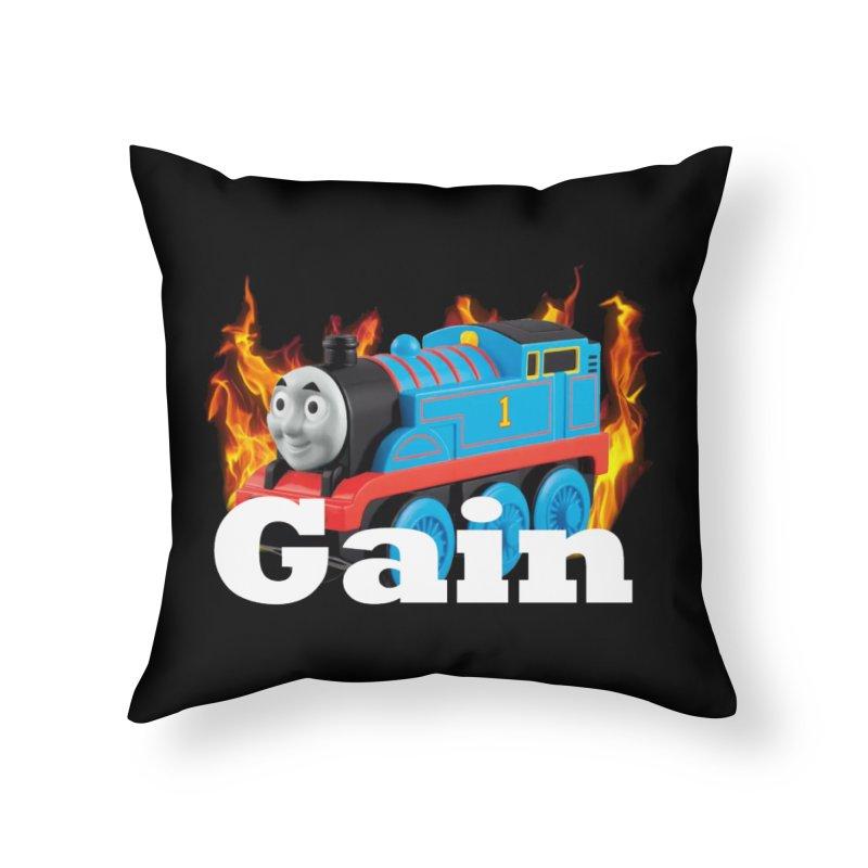 Gain Train Home Throw Pillow by Break The Bar