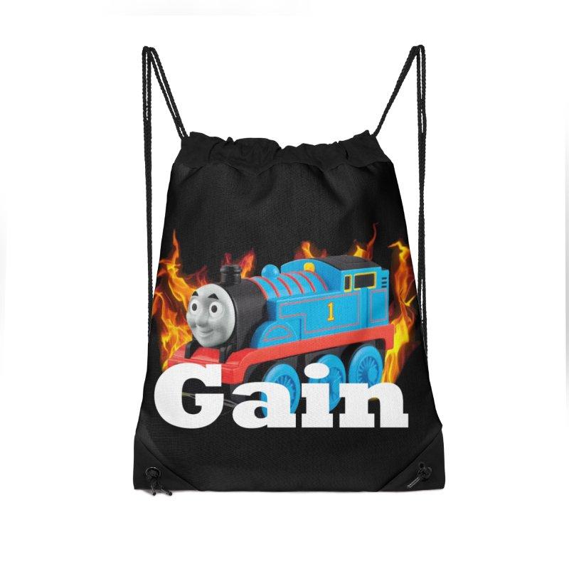 Gain Train Accessories Drawstring Bag Bag by Break The Bar
