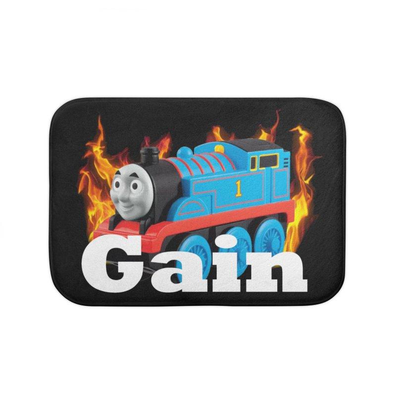Gain Train Home Bath Mat by Break The Bar