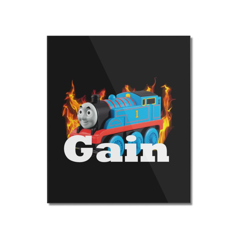 Gain Train Home Mounted Acrylic Print by Break The Bar